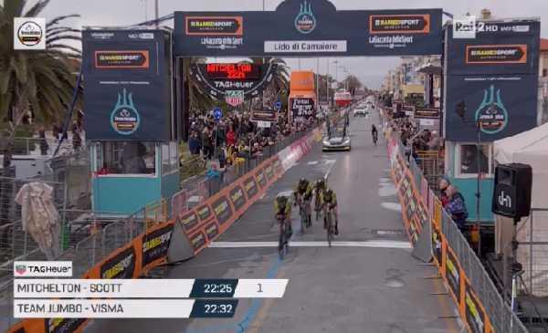 Tirreno Adriatico 2019 1^ tappa: la Mitchelton – Scott soffia la vittoria alla Jumbo-Visma