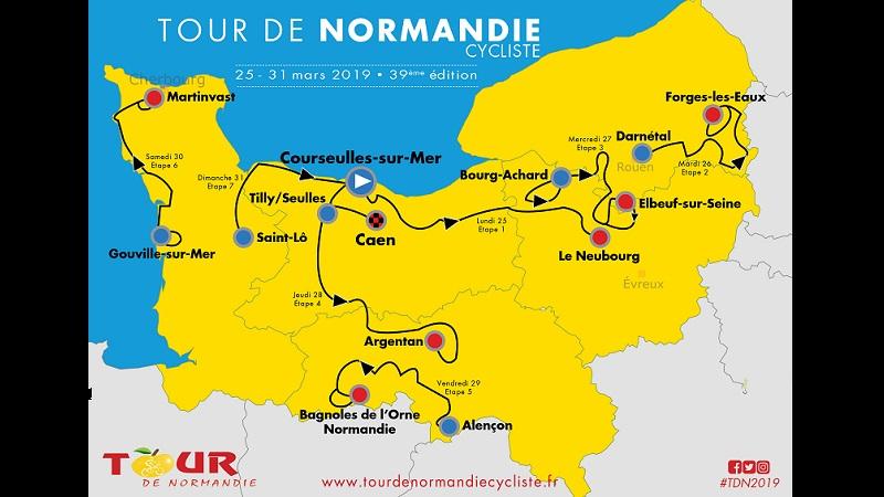 Tour de Normandie 2019: percorso, altimetria e start list