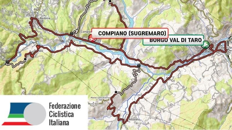 Campionati Italiani Strada Professionisti 2019: percorso e altimetria