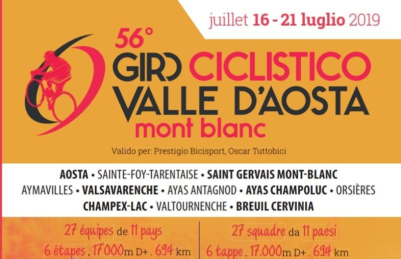 Giro Ciclistico della Valle d´Aosta 2019: tappe, percorso con altimetrie e start list