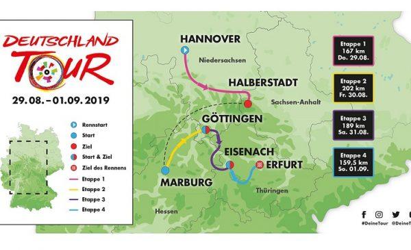 Giro di Germania 2019: tappe, percorso, altimetrie e start list | Al via Nibali