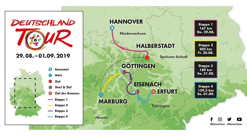 Giro di Germania 2019: tappe, percorso, altimetrie e start list | Al via Nibali