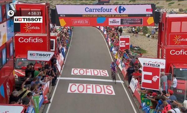 Vuelta 2019 tappa 5: arriva la fuga Madrazo vince il primo arrivo in salita, Lopez in Maglia Rossa