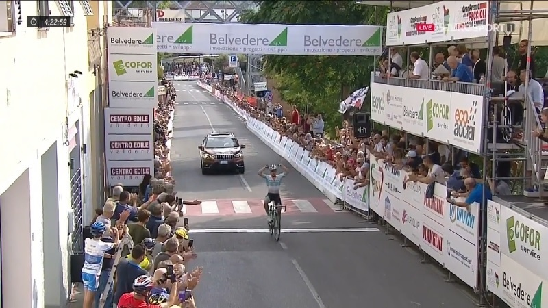 Coppa Sabatini 2019 Lutsenko vince in solitaria, Colbrelly secondo
