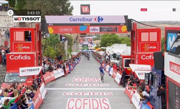 Vuelta 2019 tappa 19: vittoria di Cavagna a Toledo
